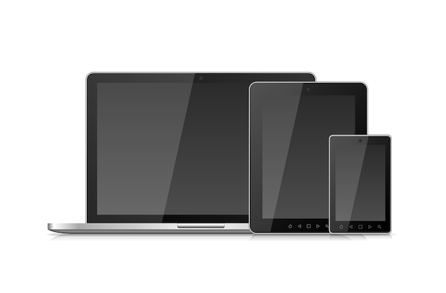 Laptop, smartphone and tablet Free Vector
