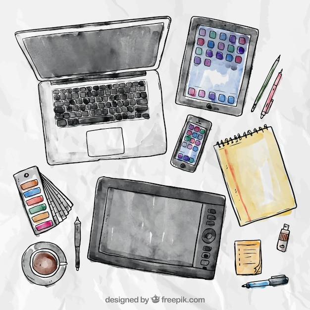 لپ تاپ تبلت گوشی های هوشمند و ابزار نویسی