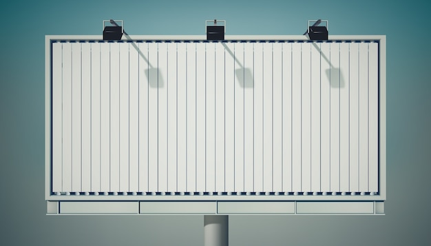 Большой рекламный горизонтальный рекламный щит Бесплатные векторы