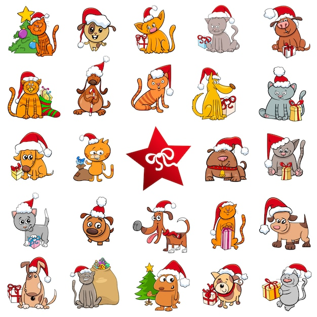 Large christmas cartoons collection