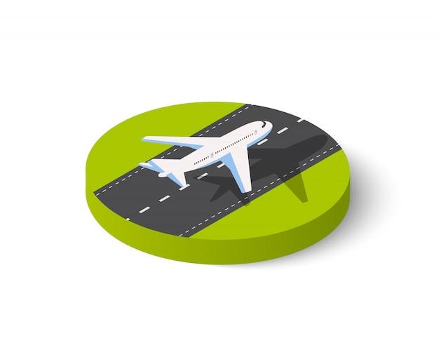 Large passenger plane Premium Vector