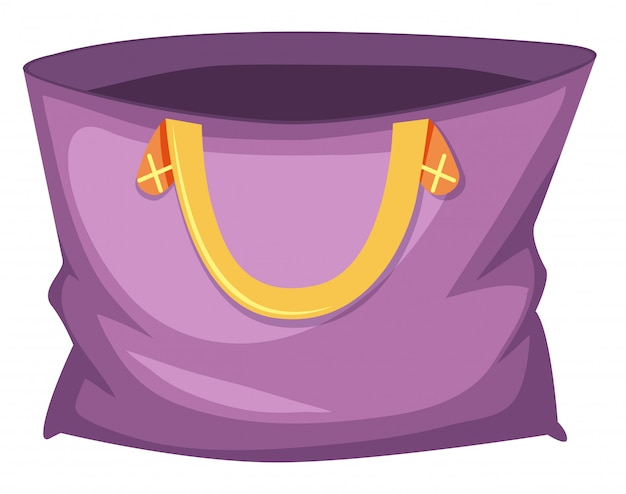 Large purple tote bag Free Vector