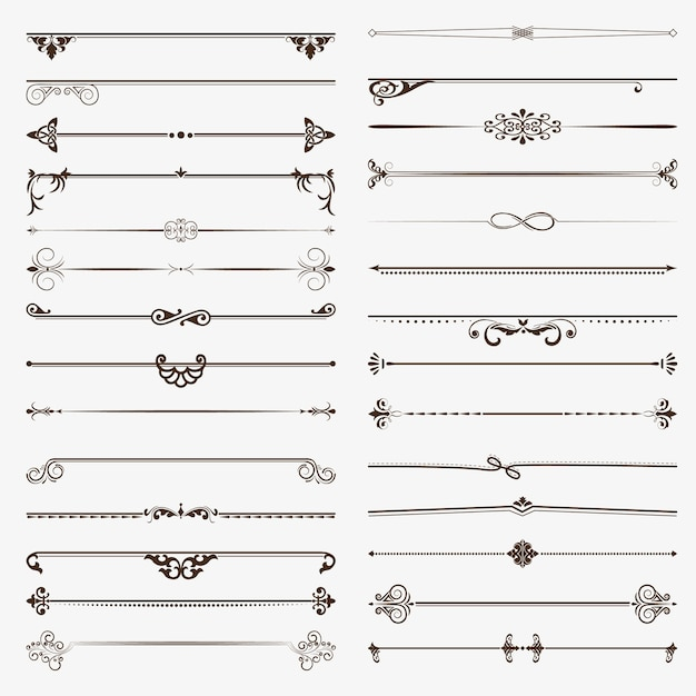 A large set of dividers. Premium Vector