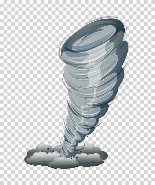 Большой торнадо изолированный графический Бесплатные векторы