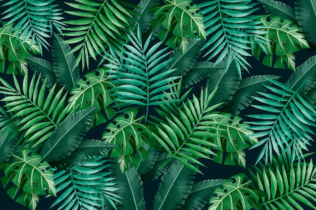 Free Vector Large Tropical Green Leaves Background Today's video is a tropical leaves green screen pack. large tropical green leaves background