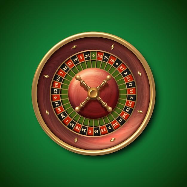 Las vegas casino roulette wheel isolated illustration. gambling fortune game Premium Vector