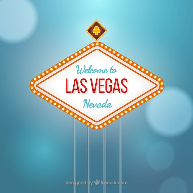 las vegas sign vector free vector