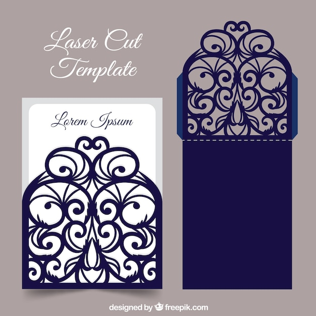 Laser cut card template Vector | Free Download