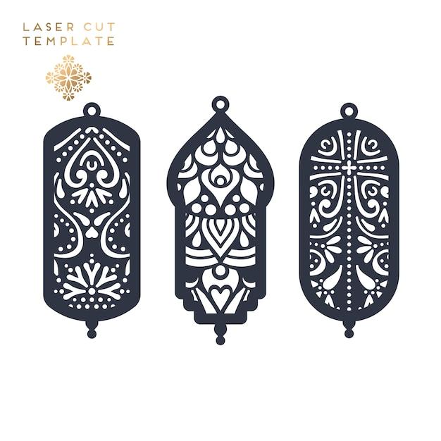 Laser cut islamic pattern Free Vector