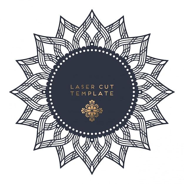 Modello di taglio laser Vettore gratuito
