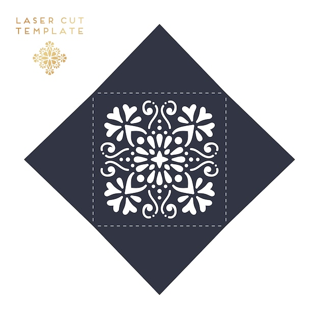 Laser cut template Free Vector