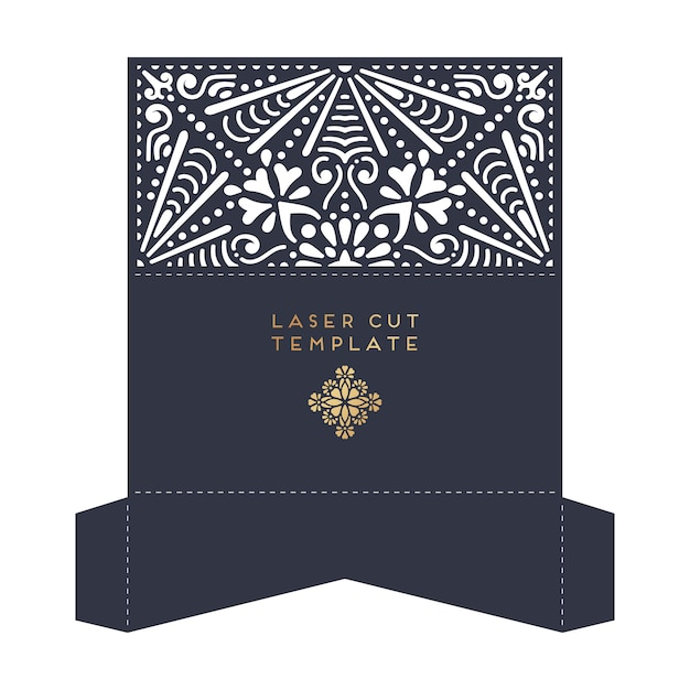 Laser cut template Free Vector