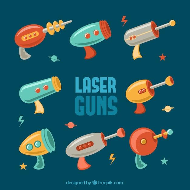 Laser guns Free Vector