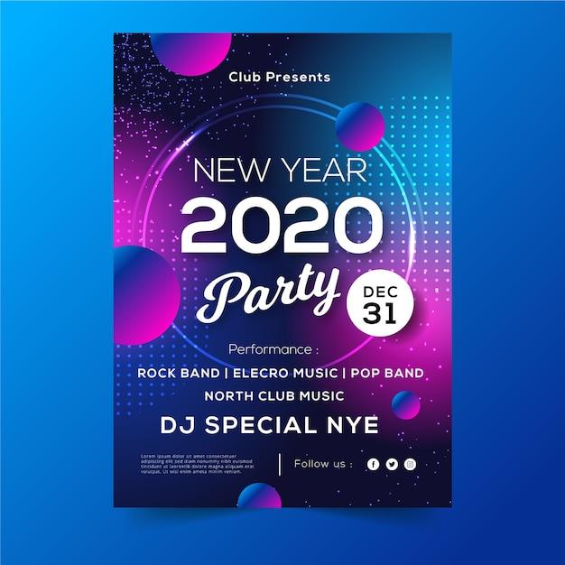 Плакат вечеринки в последний день года Бесплатные векторы