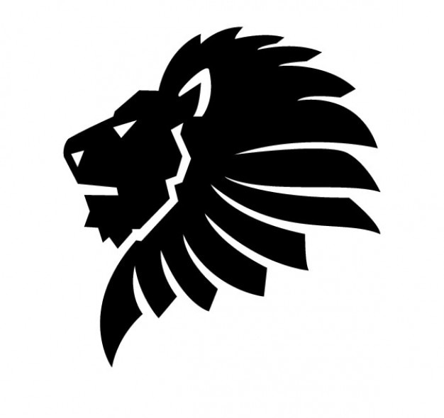 lateral lion head vector | free download