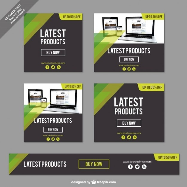 Latest products banners Free Vector
