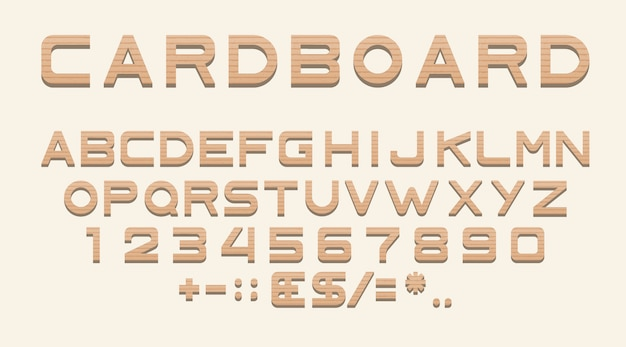 Latin alphabet, numbers and punctuation, font Free Vector