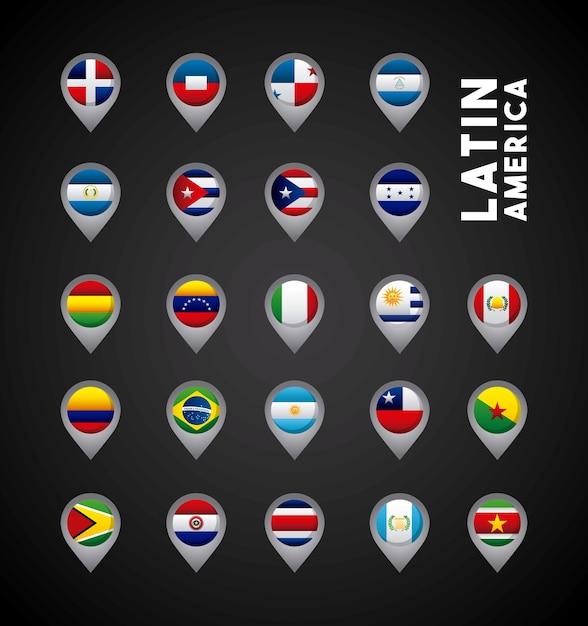 Latin america countries Premium Vector
