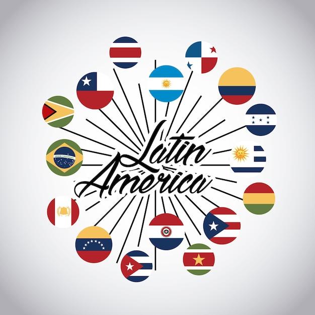 Latin america design Premium Vector