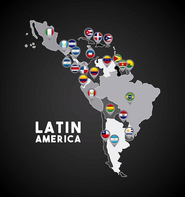 Latin America Map Vector Premium Download