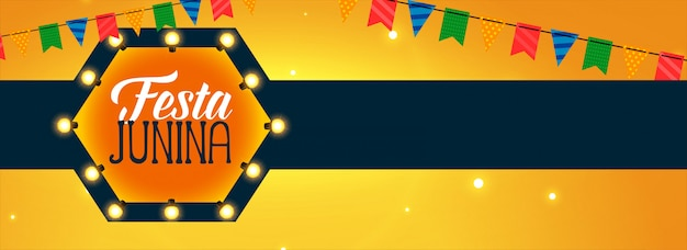 Latin american festa junina celebration Free Vector