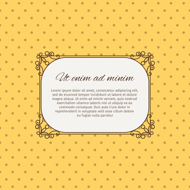 Latin inscription romantic card design Premium Vector