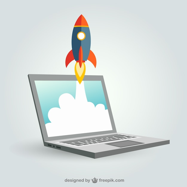 Launching business concept Free Vector