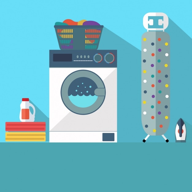 Laundry background design Free Vector