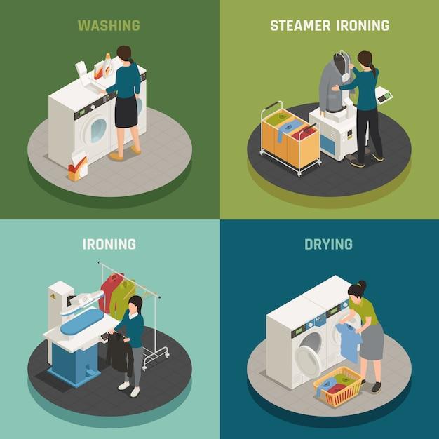 Laundry  design concept Free Vector