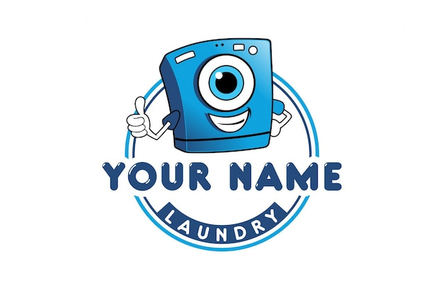 Laundry logo design Premium Vector