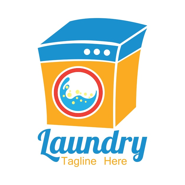 Laundry logo with text space for your slogan