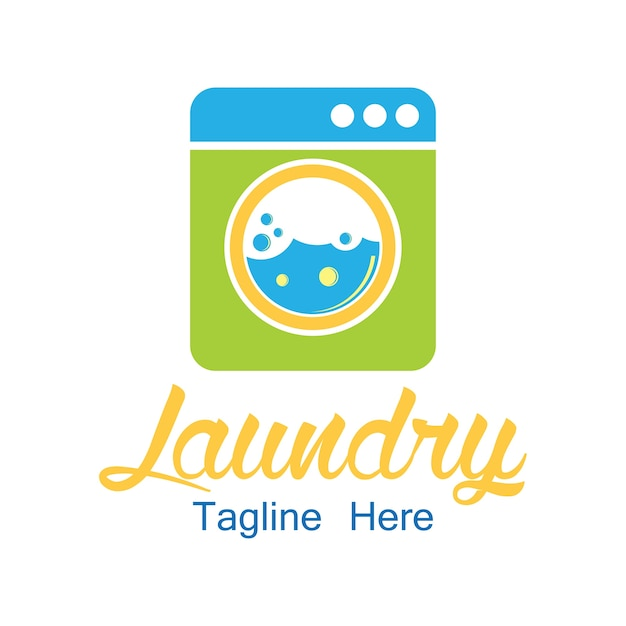 Laundry logo with text space for your slogan Free Vector