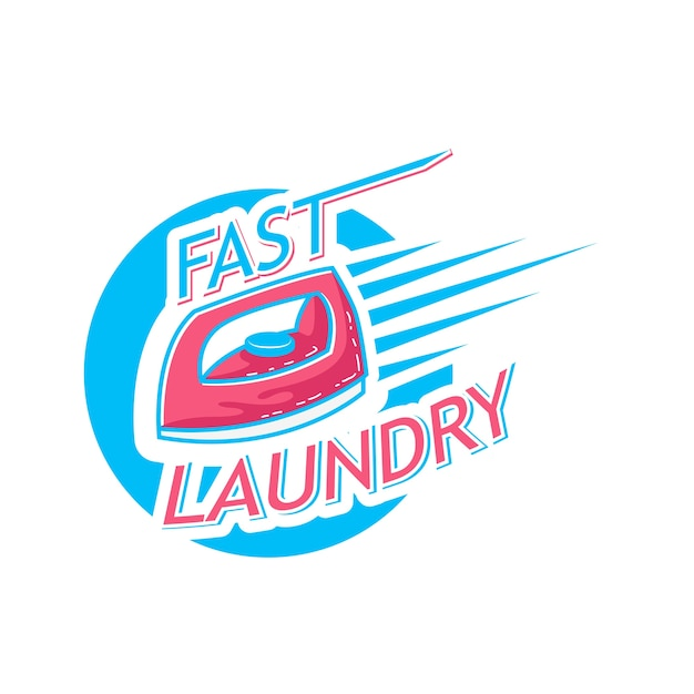 Laundry logo with text space for your slogan Premium Vector