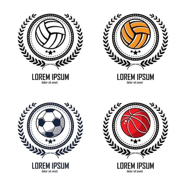 Laurel wreath logo icon design template Vector | Premium Download