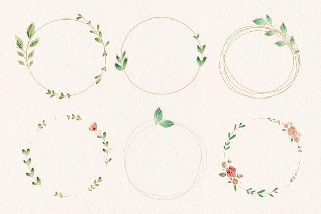 Laurel wreath set Free Vector