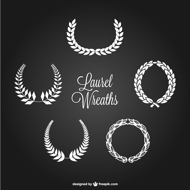 Laurel wreaths set Free Vector