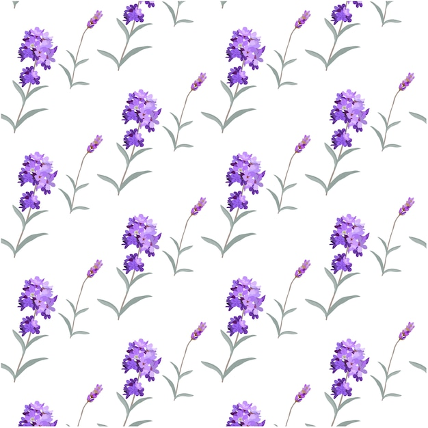 lavender pattern background vector free download