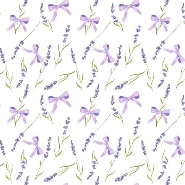 Lavender seamless pattern, provence Premium Vector