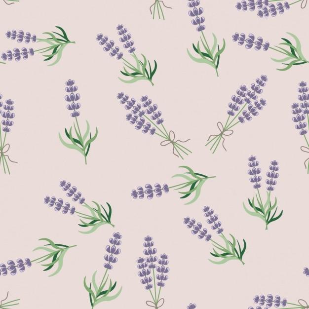 Lavender seamless pattern Free Vector