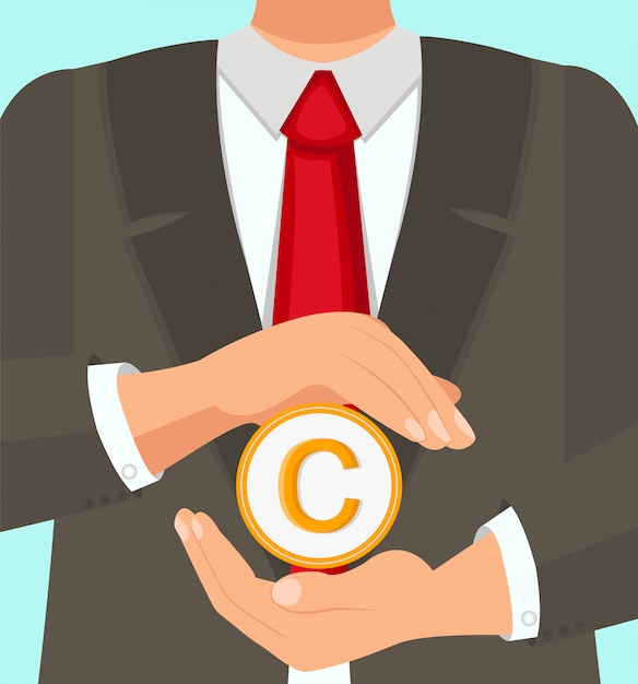 Law experienced lawyer protects copyright use. Premium Vector