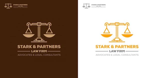 法律事務所は法律コンサルタントのロゴテンプレートを提唱 Premiumベクター