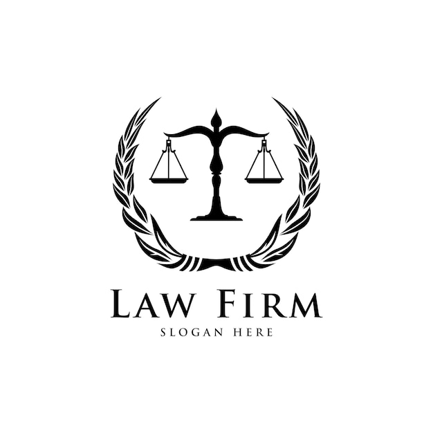 law firm law office lawyer services luxury vintage crest logo