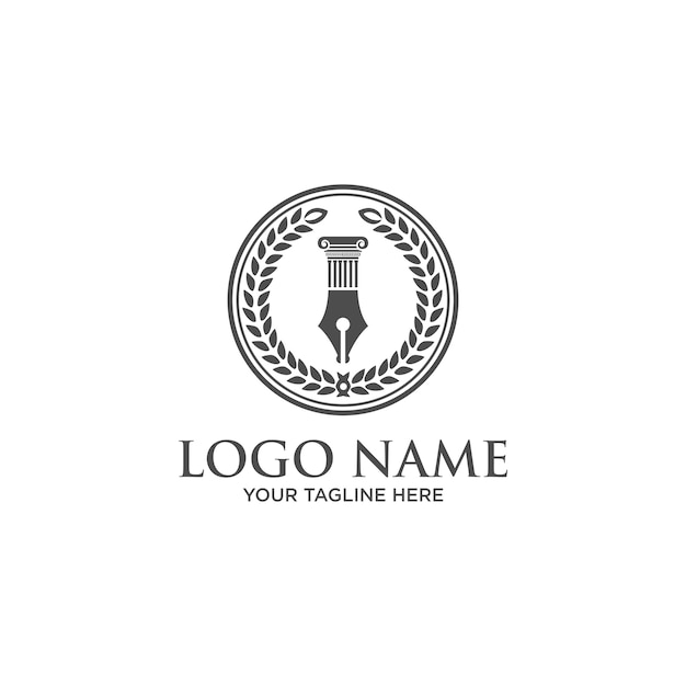 Law firm, law office logo template Vector | Premium Download