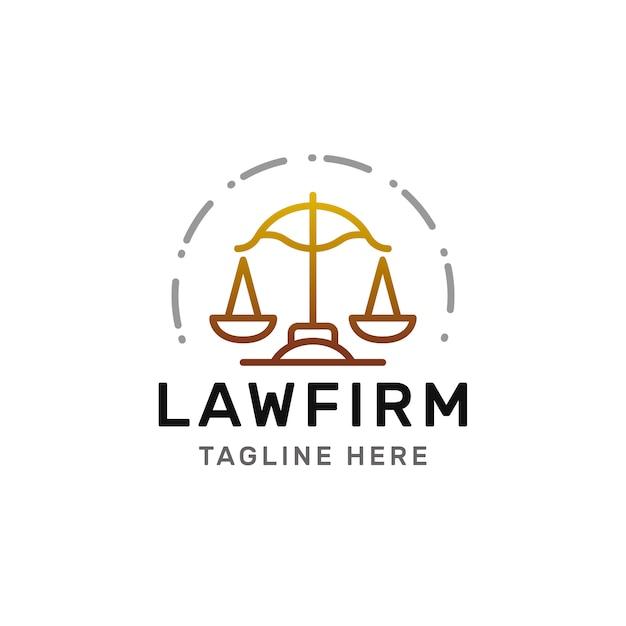 法律事務所ラインのロゴ Premiumベクター