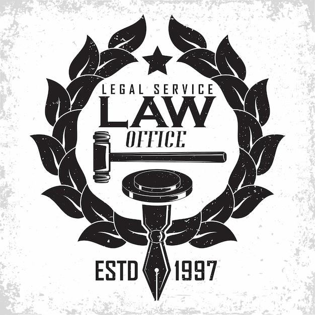 Юридическая фирма дизайн логотипа эмблема адвокатского агентства или нотариуса Premium векторы
