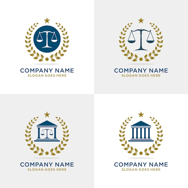 Law firm logo set Premium Vector