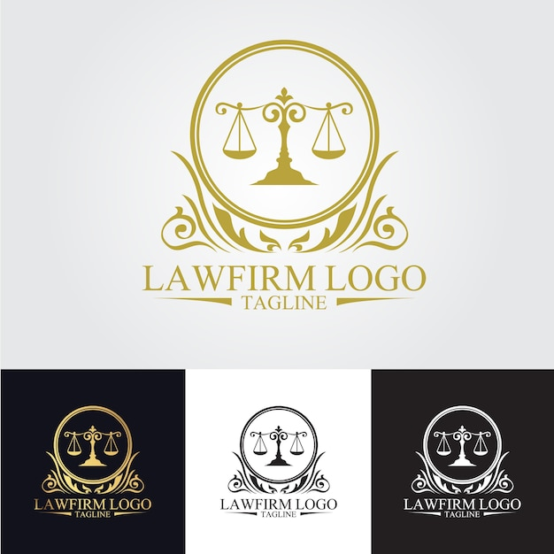 Law firm logo template Vector | Premium Download
