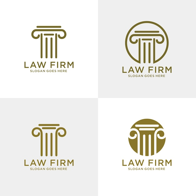 Law firm logo template Premium Vector