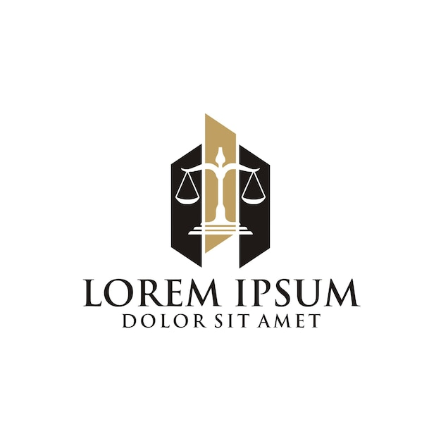 Law firm logo Premium Vector