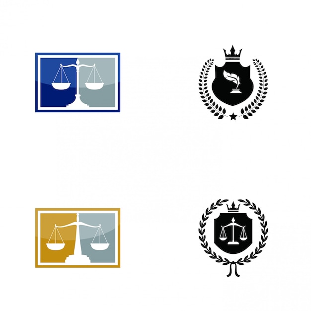 Law firm logo Premium Vector